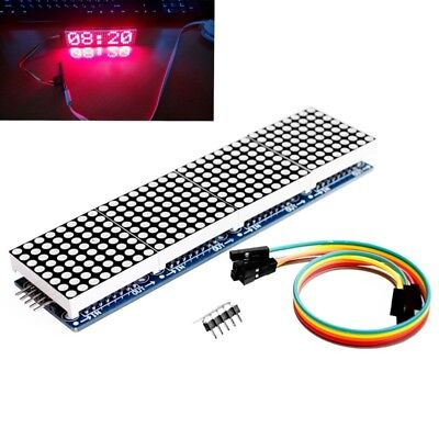 MAX7219 Dot Matrix Module Micro Controller 8x32 4 in 1 Display For Arduino Red