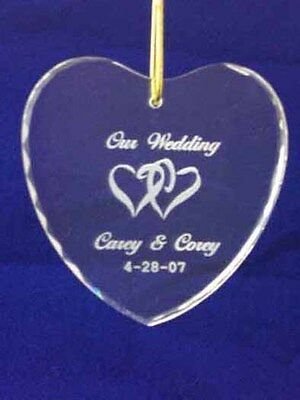 Engraved Personalized 1st Christmas Together Heart Crystal ornament 2018