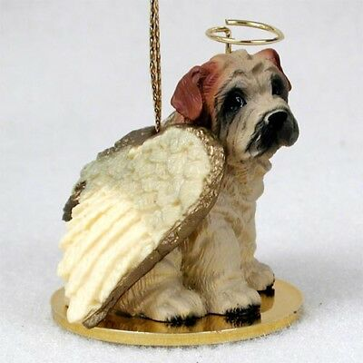 SHAR PEI dog ANGEL Ornament Figurine resin Christmas CREAM puppy COLLECTIBLE New