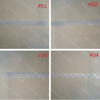 "DIY Silver Reflective Warning Tape Iron On Width 1"" for Clothes Pants Bag #"