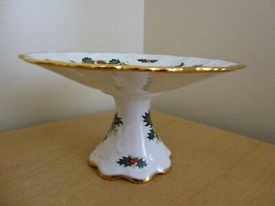 Queens Yuletide Rosina China Mini Tazza or Cake Stand for Christmas