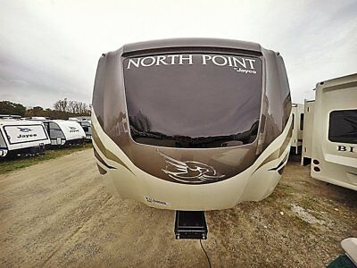 2019 North Point 385THWS Front living rear toy hauler luxury fifth wheel