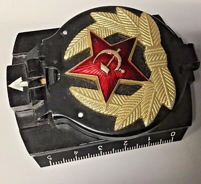 vintage Russian  Bakelite Compass folding with Russian Emblem on front