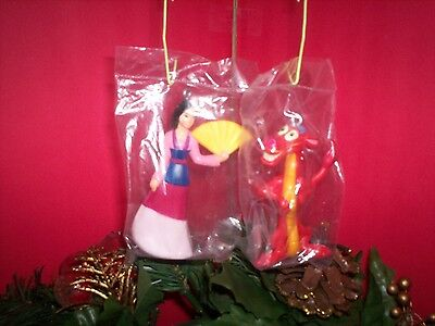 Disney 2 piece - Mulan Ornament Set - Mulan & Mushu