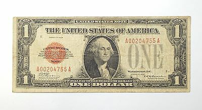 Series of 1928 $1 Red Seal US Note FINE Fr#1500