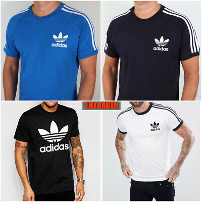 Adidas Originals Mens t shirt California Raglan Retro Crew Neck Short Sleeve New