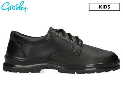Grosby Kids' Educate Junior School Shoes - Black