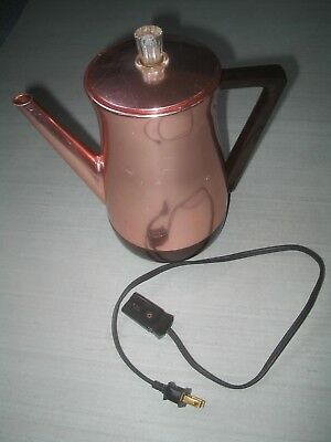 West Bend Flavo-Matic Coppertone? 6-8 Cup Electric Coffee Pot Percolator
