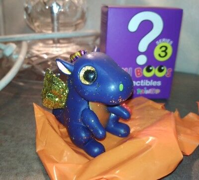 TY Series 3 Mystery Chaser Saffire the blue Dragon