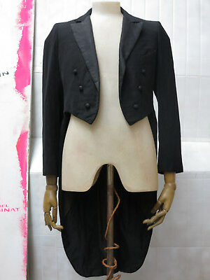 antik Frack Gehrock Mantel schwarz TRUE VINTAGE tails dress coat black antique