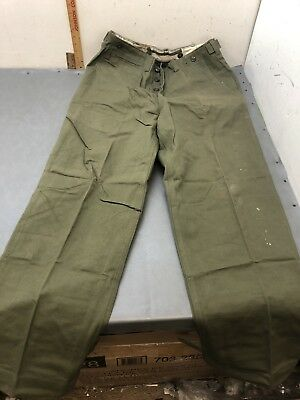 """WWII 1945 Cotton Field Trousers 34"""" Waist 32"""" Inseam HBT US Army Exc."""