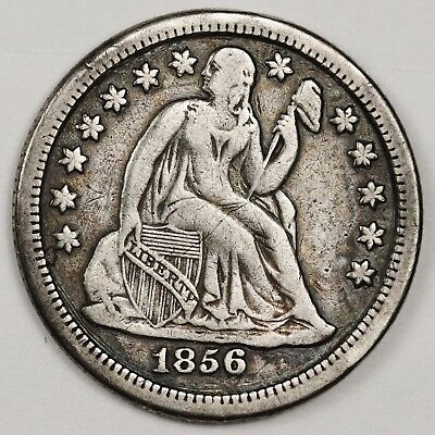 1856-o Liberty Seated Dime.  V.F.  131379