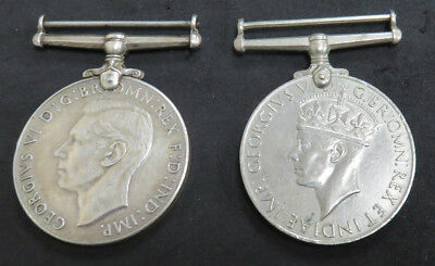 2- Great Britain WWII Defence Medal 1939- 1945 King George VI no ribbon