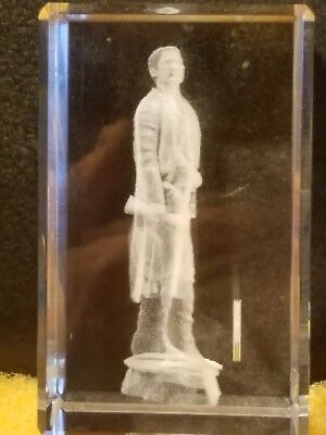 """U.S. Marshal """"The Marshal"""" statute suspended in lucite 3 1/2"""""""