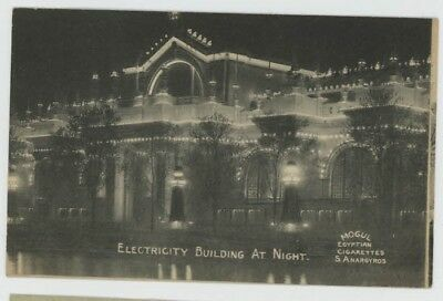 Mr Fancy Cancel Unused St Louis Worlds Fair Electricity Building at Night #1246