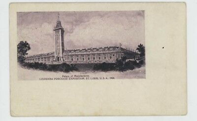 Mr Fancy Cancel Unused St Louis Worlds Fair Palace Manufactures Card #1239