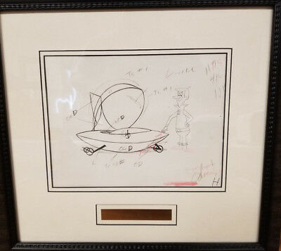 Jetsons- George with his Spaceship Original Production Drawing