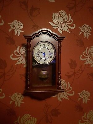 Hermle Pendulum Wall Clock with Westminster Chime 45cm High With Key. 8 day.
