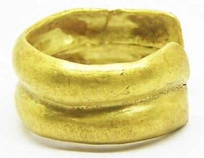 1500 - 1100 B.C. Middle Bronze Age Gold Composite Ring Money Adornment