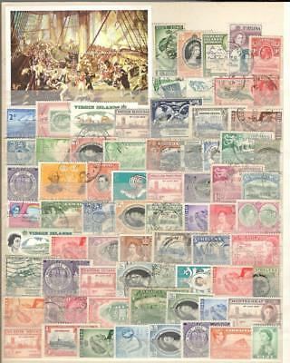 British Colonies - 72 Stamps + 1 Souvenir Sheet - Mint And Used