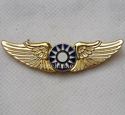 Ww2 Chinese Kmt Kuomintang Flying Tiger Wings Hat Pin Badge -32215