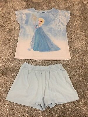 Girls Disney Frozen Pyjamas Shorts & T-Shirt Set Age 7 Years From Next