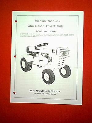 Sears Craftsman 10 Tractor Model 1318570 0wner S With Parts Manual