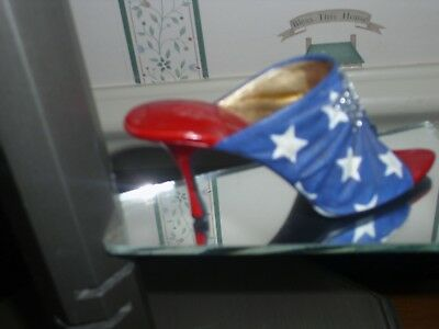 2002-Just The Right Shoe -Raine Collection Figurine- Star Spangled- Exc. Cond