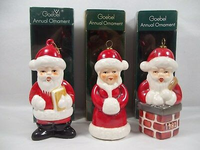 Vintage Goebel Annual Edition Ornament 1978 First 1980 Third 1982 Fifth Lot of 3