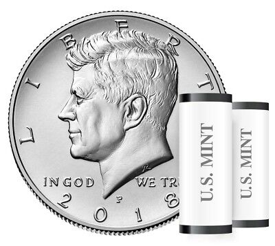 2018 P President Kennedy Half Dollar Coin Fifty Cent Money U.S Mint Roll Coins