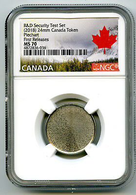 2018 Canada Piechart Security Ngc Ms70 Test Token First Releases From R & D Set