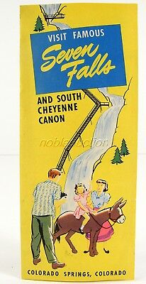 Seven Falls Brochure 1940's and South Cheyenne Canyon Colorado Springs