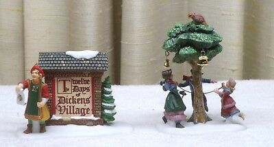 "Dept 56 ""12 Days Of Christmas"" Dickens Village ***complete 13 Piece Set***"