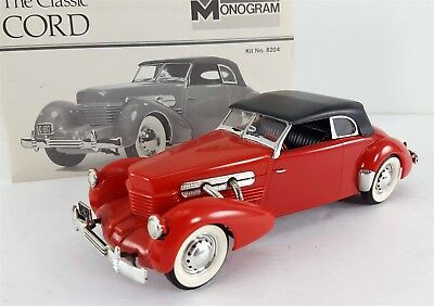 Vintage Monogram 1937 Cord Supercharged 812 Convertible 1/24 Built Model Kit