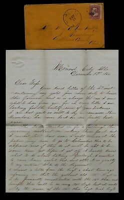 120th Ohio Infantry CIVIL WAR LETTER from Hospital at Mound City, Illinois !