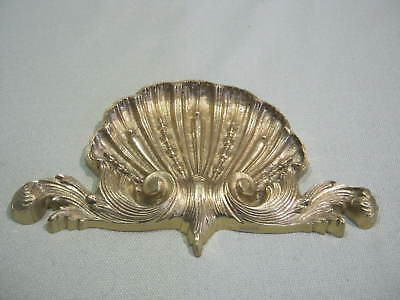 Ornate Vintage Brass Shell Design Picture, Mirror, Door, Topper Wall Decoration