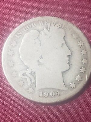 1904 Barber Or Liberty Head90%silver Half  Dollar  Rare Semi Key Date Grades #g