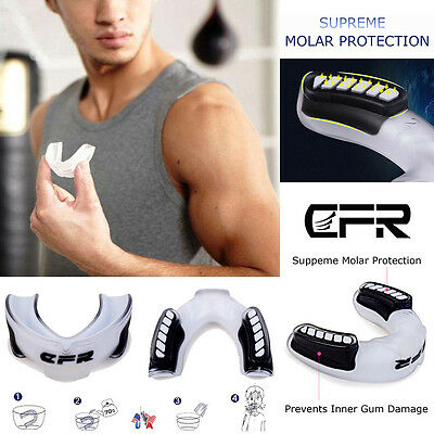 MMA Mouth Guard Piece Teeth Protector Rugby Boxing Football Sports Gum Shield US