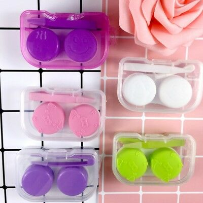 Contact Lens Box Transparent Travel Portable Case Storage Container Objectives