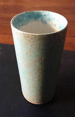 """Vintage Rare Early McCARTY-Merigold Mississippi-TUMBLER-Fine-Turquoise-5.75 x 3"""""""