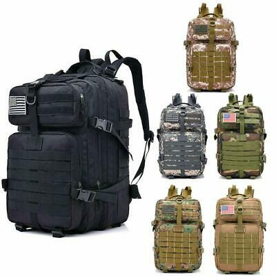 40L Large Military Tactical Backpack Army Assault Pack Waterproof Molle Rucksack