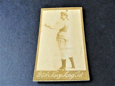 Antique  G.W. Gail/Ax's Navy Tobacco Card with black and white image of lady.