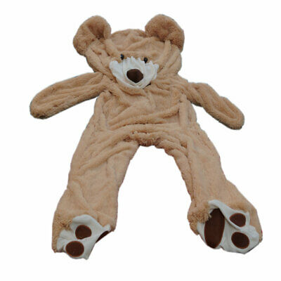 6.5 Ft 2M Brown Giant Skin Teddy Bear Big Unfilled Plush Toy DIY Christmas Gift
