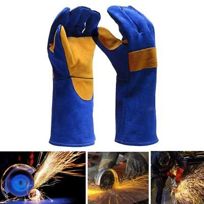 Pair Of Leather Welding Gloves 500℃ Fire Resistant Welders Gauntlets Gloves AU