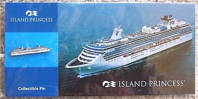 Hat Pin ~ Post Card ~ Princess Cruise Ship ~ Island Princess