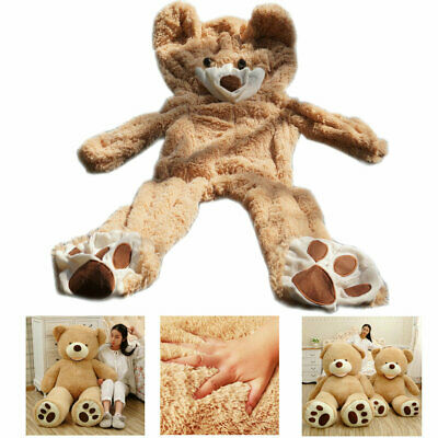 5.2Ft 1.6M Brown Giant Skin Teddy Bear Big Unfilled Plush Toy DIY Christmas Gift