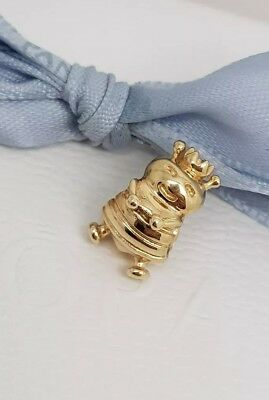 Authentic Pandora 14K 14ct Solid Gold Queen Bee Charm 750432 Retired