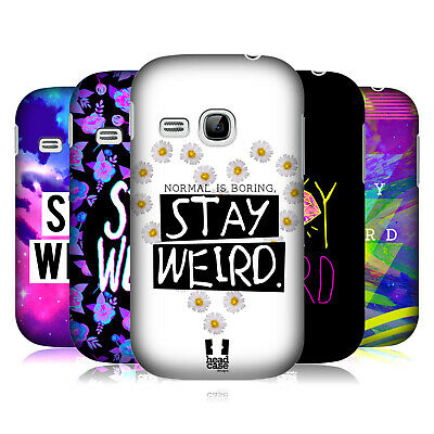 Head Case Designs Stay Weird Hard Back Case For Samsung Phones 5