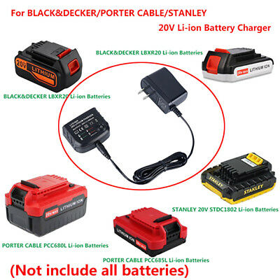 20V Lithium Battery LCS1620 Charger For BLACK DECKER/PORTER-CABLE/STANLEY US