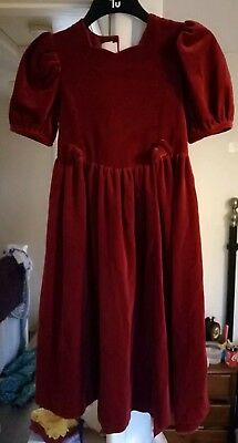 Child's Laura Ashley Dress size 10 years, red velvet